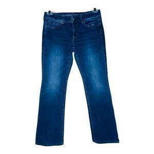 AMERICAN EAGLE KICK BOOT Super Stretch Jeans AEO 8